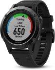 Garmin fenix 5 -GPS-urheilukello, harmaa/musta -Tehopakkaus