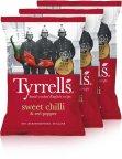 Tyrrells Sweet Chilli & Red Pepper -perunalastut, 3 x 150 g