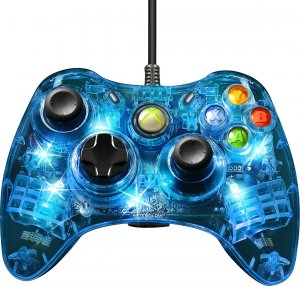 PDP Afterglow Wired Controller -peliohjain, Xbox 360, sininen - Padit ...