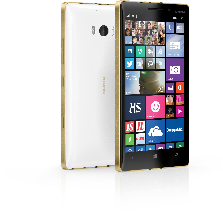 Nokia Lumia 930 Windows Phone ‐puhelin, valkoinen/kulta – Windows phone – Puhelimet – Puhelimet ...